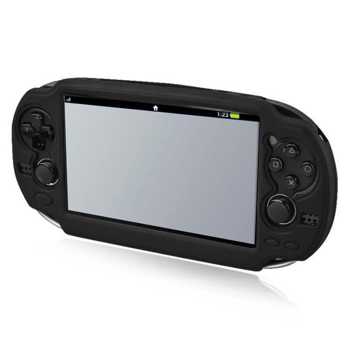 INSTEN® Housse étui Coque en Silicone Pour Console Sony Playstation PS Vita PSVita PCH-1000 séries, Noir