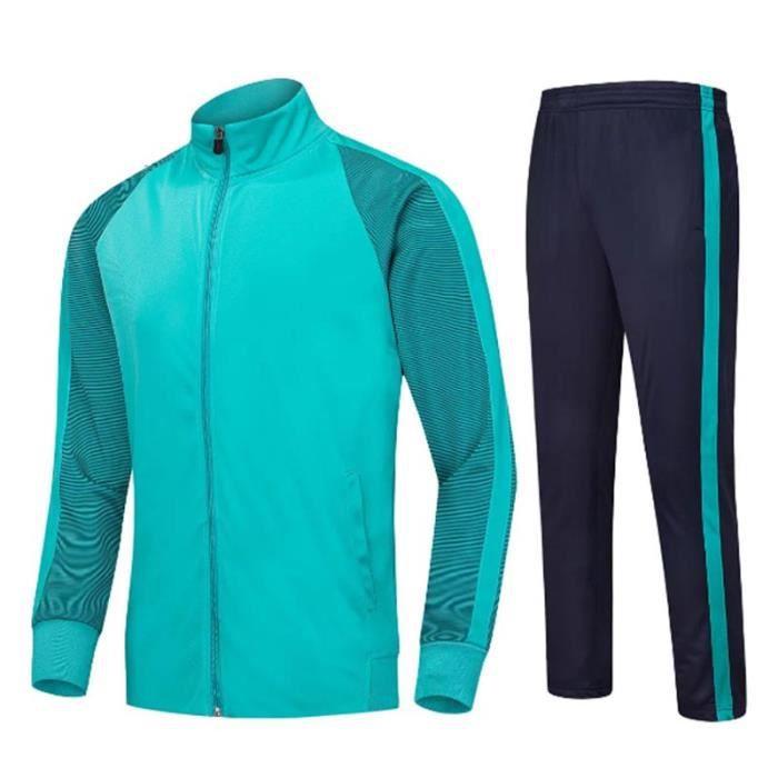 Survêtement Mixte Adulte Ensemble Vêtement Entraînement de Football Veste et Pantalon Pour Sport