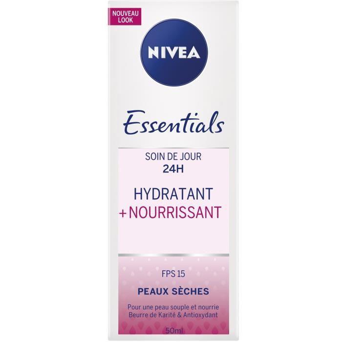 NIVEA Soin de jour nourrissant confort - Peaux sèches et sensibles - 50 ml
