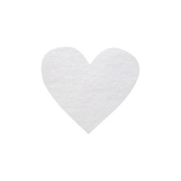 Confettis mariage coeur: Blanc (x100) REF/2973