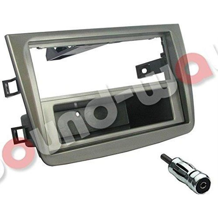 Kit montage autoradio 1 DIN / 2 DIN pour ALFA ROMEO MITO gris