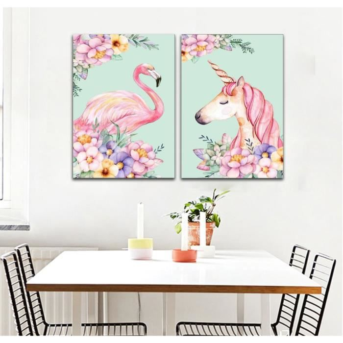 sans cadre nordic frais mignon rose licorne flamant. Black Bedroom Furniture Sets. Home Design Ideas