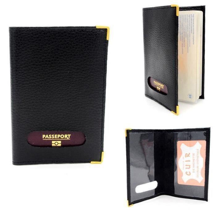 Porte-passeport Protège passeport en Cuir