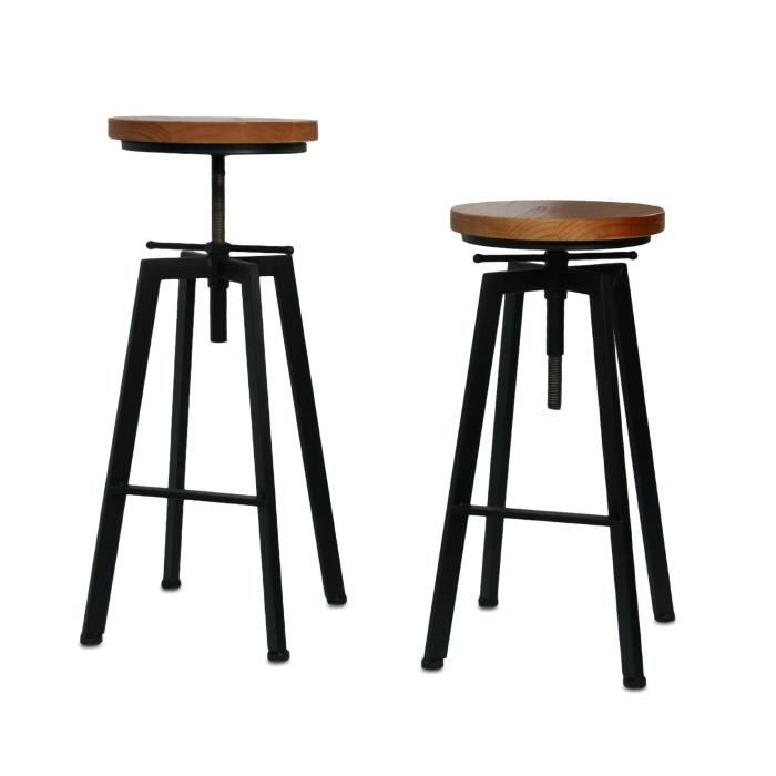 tabouret de bar ou de peintre sur vis design luxe loft. Black Bedroom Furniture Sets. Home Design Ideas