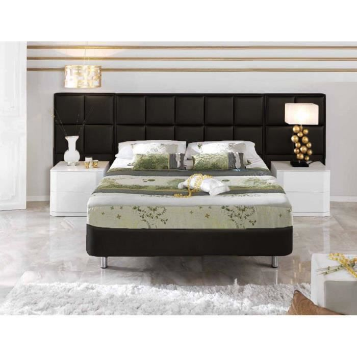 t tes de lit pu mod le mulhouse argent achat vente t te de lit cdiscount. Black Bedroom Furniture Sets. Home Design Ideas