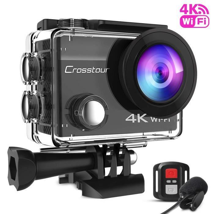 CAMÉRA SPORT Crosstour Action Cam 4K Caméra étanche Caméra d'ac
