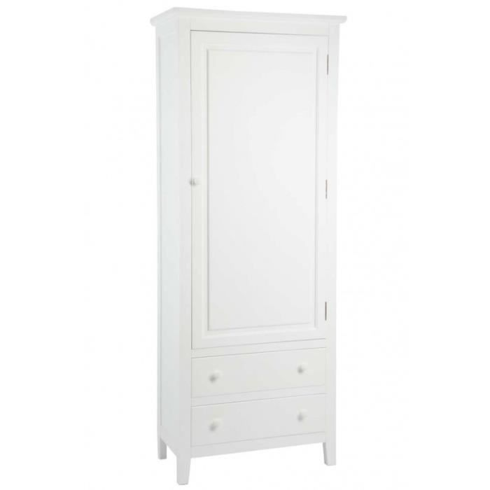 armoire blanche 1 porte achat vente armoire blanche 1 porte pas cher cdiscount. Black Bedroom Furniture Sets. Home Design Ideas