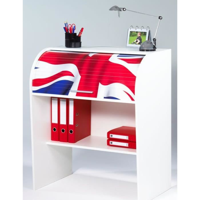 bureau cylindre rideaux london drapeau an achat vente bureau bureau cylindre. Black Bedroom Furniture Sets. Home Design Ideas