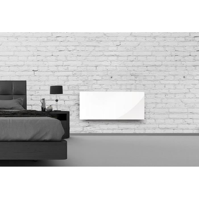 RADIATEUR ÉLECTRIQUE ALPINA Verre Blanc LCD 1500 watts Radiateur Pannea