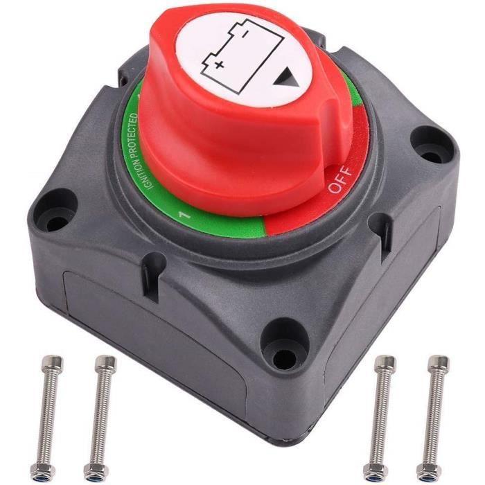 commutateur de fuite de batterie pi/èces de v/éhicules /électriques 12\24 V coupure Commutateur disolateur de batterie commutateur dalimentation de batterie commutateur de d/éconnexion de batterie
