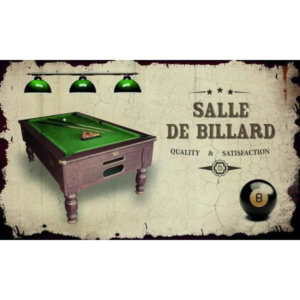 plaque de porte salle de billard class d co achat vente plaque de porte cdiscount. Black Bedroom Furniture Sets. Home Design Ideas