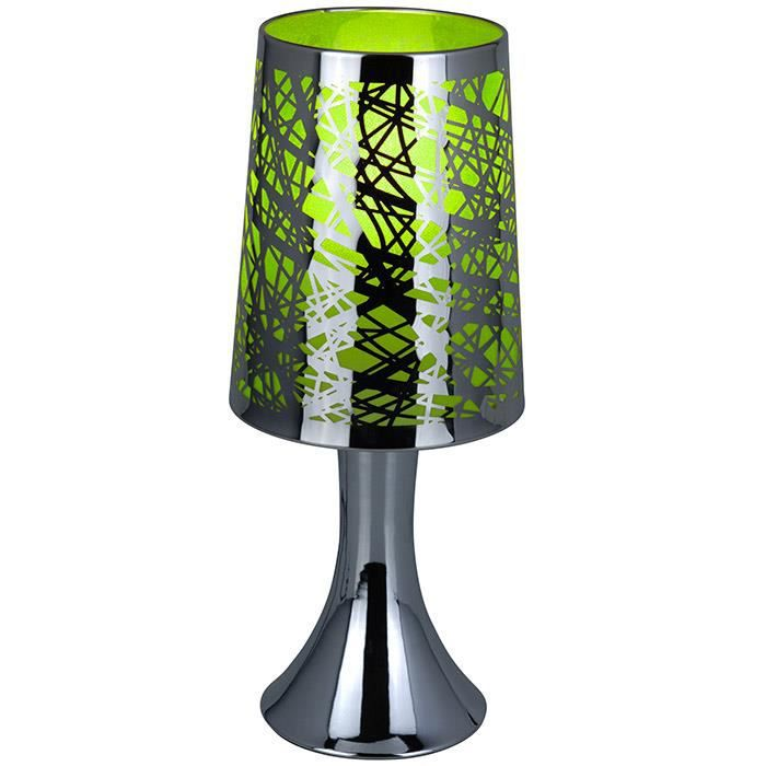 lampe de chevet tactile graphique vert achat vente. Black Bedroom Furniture Sets. Home Design Ideas