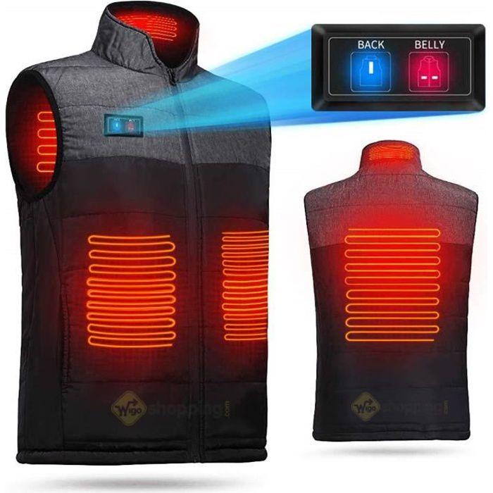 CONQUECO Homme Chauffage Veste Manteau Veste Loisirs Capuche /électrique pour Usage Quotidien en Hiver