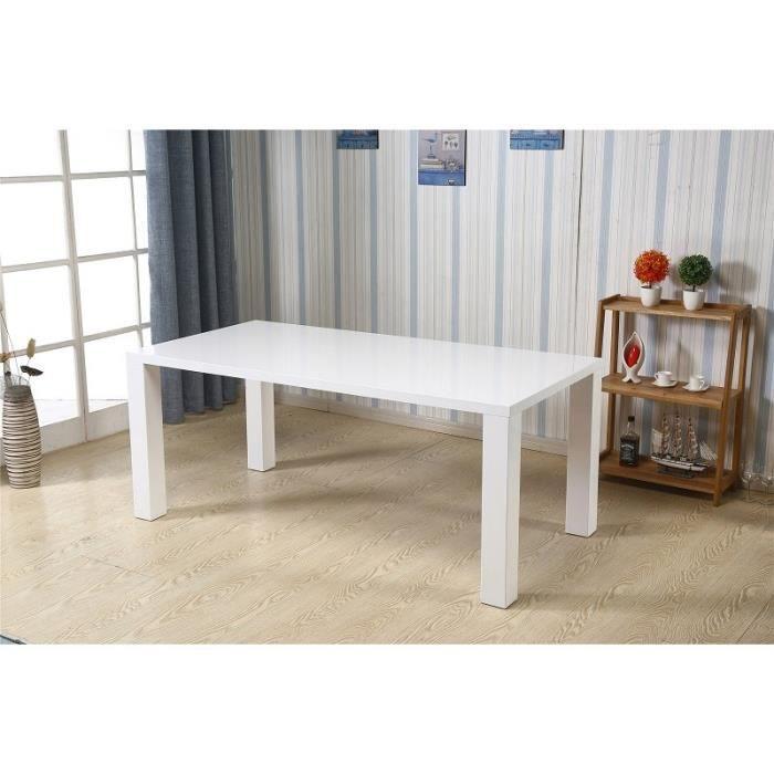 TABLE À MANGER SEULE Table KOS blanche laquée Version XL. Élégante par