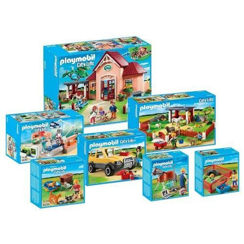 Playmobil 5529 5535 v t rinaire set comp achat for Salle a manger playmobil city life