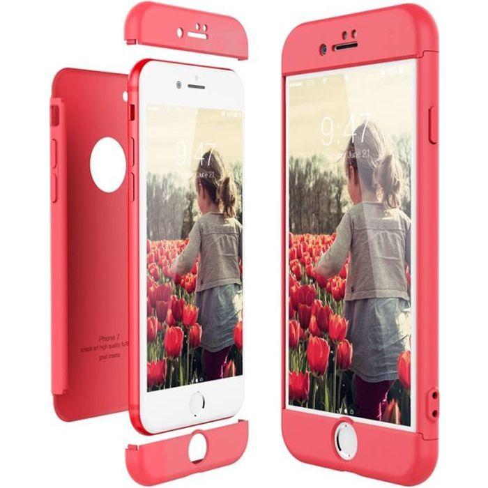 coque iphone 7 cas dur pc 3 en 1 ultra mince 360 f