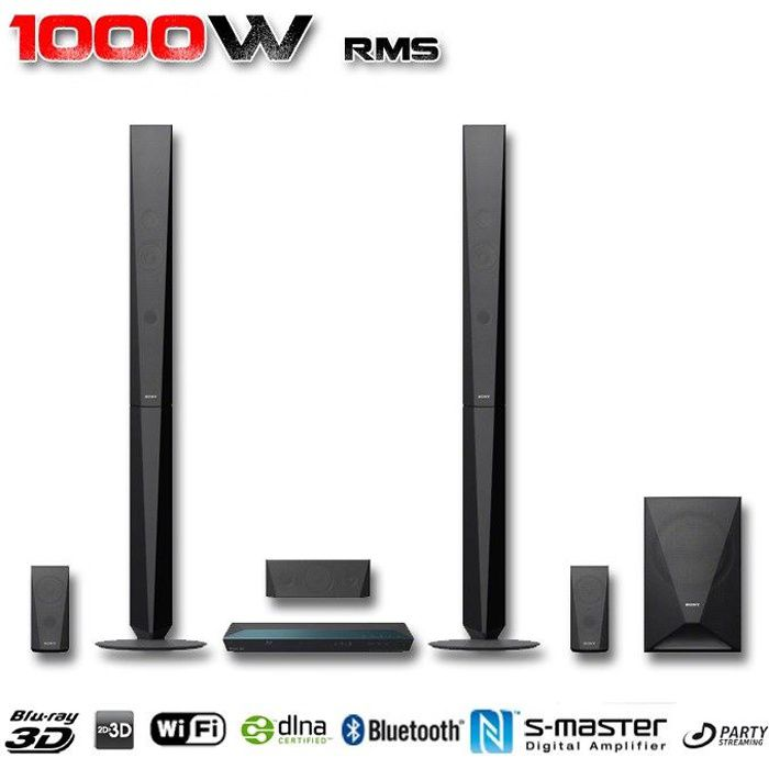 sony bdv e4100 home cin ma 5 1 blu ray 3d 1000w achat. Black Bedroom Furniture Sets. Home Design Ideas