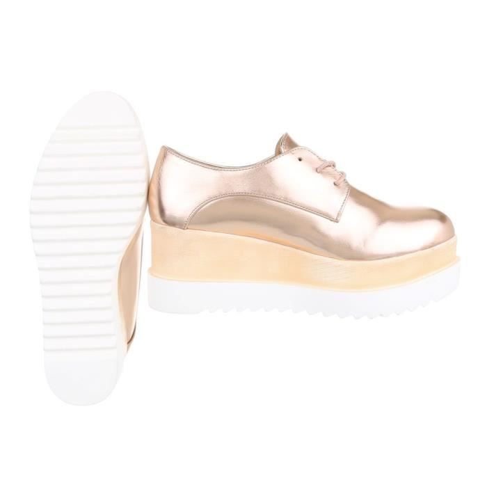 41 Chaussures 3f8ypb Trendtwo Taille Femmes Plates Lacets Wedge Zqw05