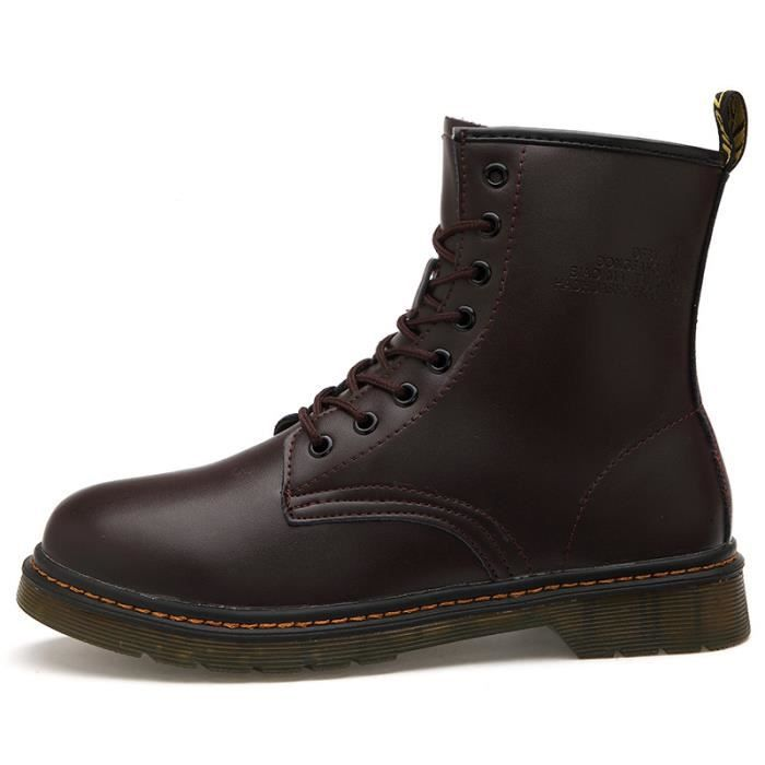 Homme cuir chaussures martin bottes hommes haut... uJPp4ydZ
