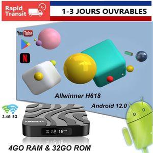 BOX MULTIMEDIA DQiDianZ Android 9.0 T9 Grande capacité 4GB+32GB W