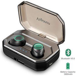 CASQUE - ÉCOUTEURS Écouteurs Bluetooth 5.0 sans Fil Sport 3000mAh Etu