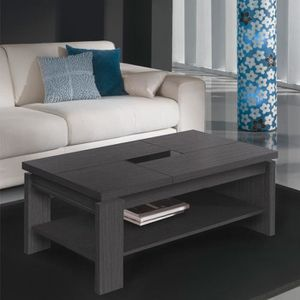 TABLE BASSE Table basse relevable cendre - LILAU  - Taille : L