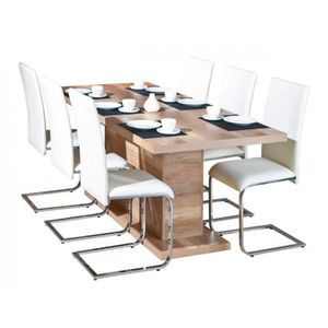 Table extensible achat vente table extensible pas cher - Table salle a manger design pied central ...