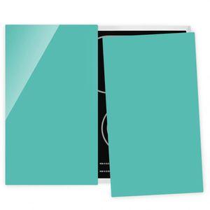 PLAQUE INDUCTION Couvre plaque de cuisson - Turquoise - 52x60cm, pr