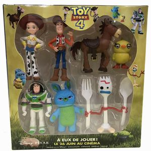 FIGURINE - PERSONNAGE 7 FIGURINES PERSONNAGES TOY STORY 4 BUZZ WOODY JES