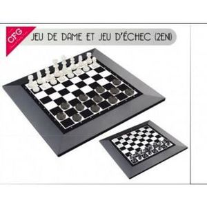 jeux dames et checs 2 en 1. Black Bedroom Furniture Sets. Home Design Ideas