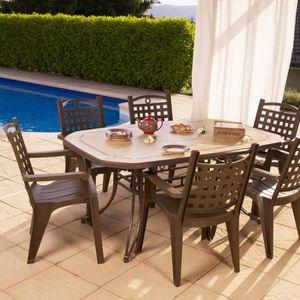 Salon de jardin de repas Amalfi-Bora design GROSFILLEX ...
