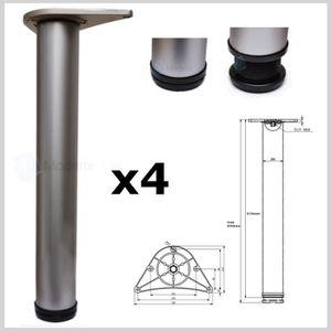 PIED DE TABLE 4 x Pieds de table réglable 870mm x 80mm aluminium