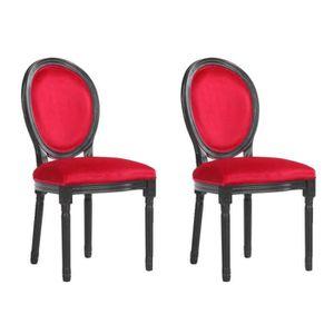 CHAISE Lot de 2 chaises médaillon VERSAILLES style louis