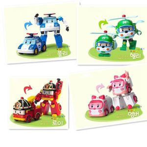 ROBOT - ANIMAL ANIMÉ 4pcs / set Robocar Poli robot transformation de vo