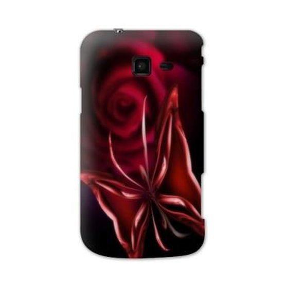 Coque Samsung Galaxy Trend LITE fleurs - fleur papillon rouge