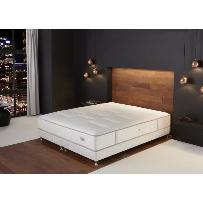 simmons resort ensemble matelas sommier 160 2x80x200cm resort ressorts ferme 55kg m3. Black Bedroom Furniture Sets. Home Design Ideas