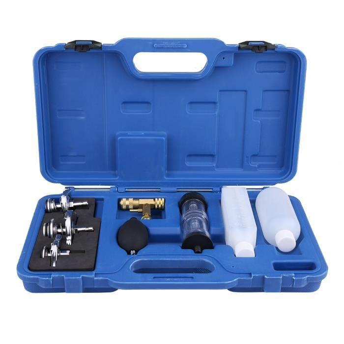 Détecteur de fuite Testeur de CO2 et de fluide gazeux de culasse Testeur de cylindre avec 3 adaptateurs à baïonnette -LAV