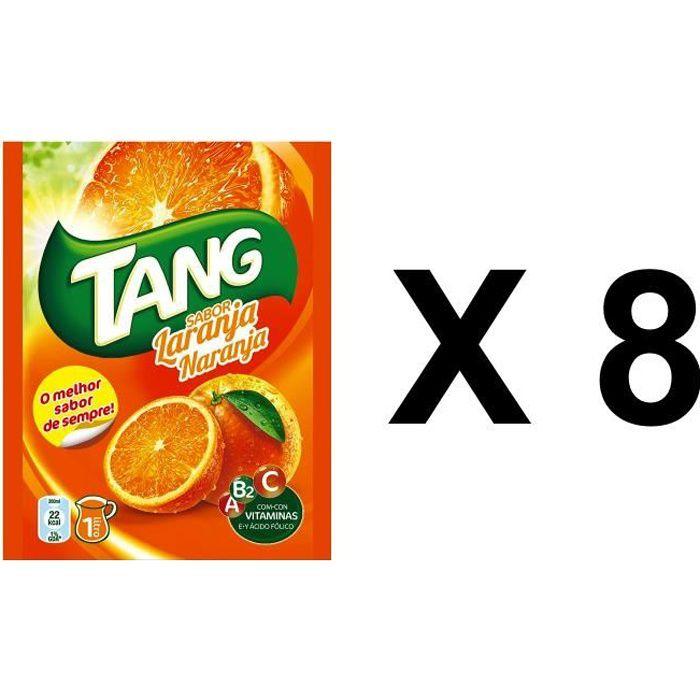 8 sachets de tang gout orange, soit 8 litres de jus de fruit