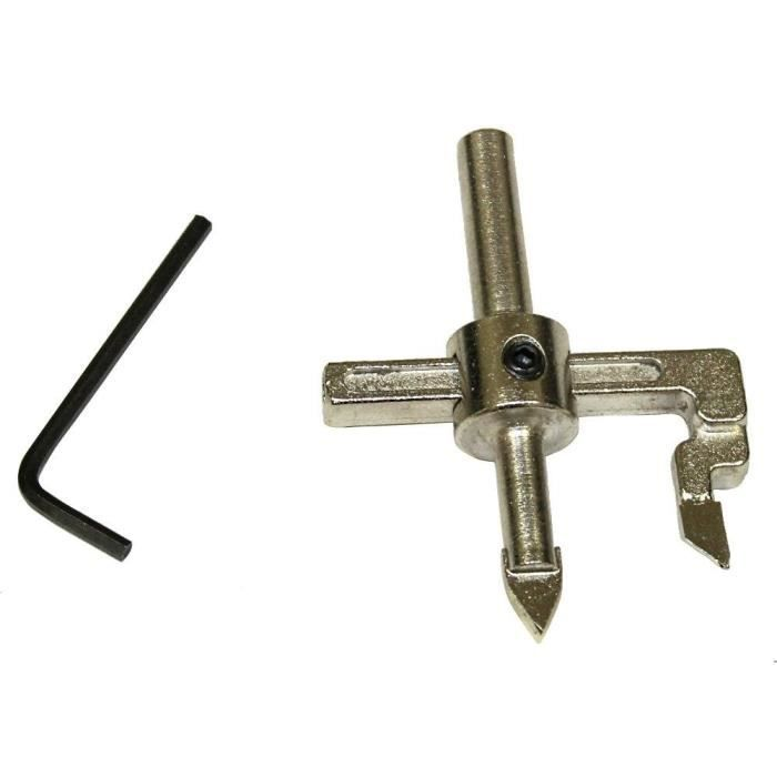 Compas mèche extensible pour percer carrelage 10cm