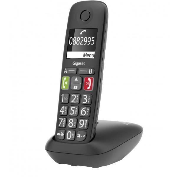 TÉLÉPHONIE, Téléphones, Téléphone sans fil, Gigaset E290 Noir
