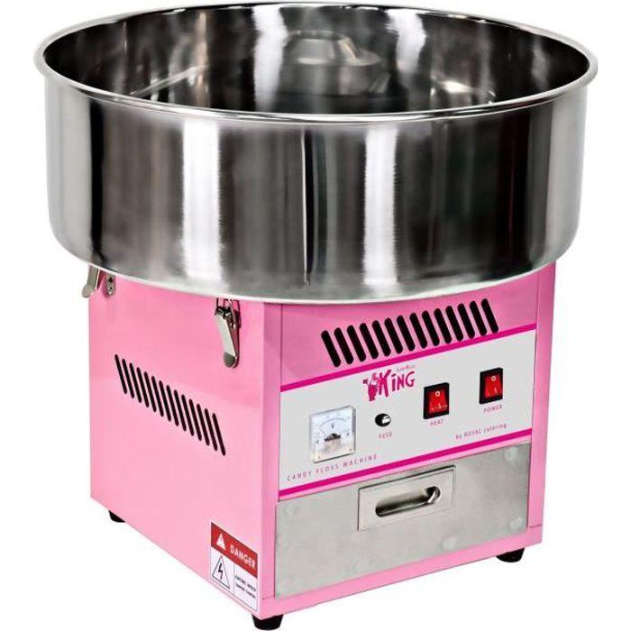 Machine à barbe à papa Royal Catering Diamètre cuve 52 cm 1.200W 1 unité/60s 52x52x50cm alimentation 230 VRCZK-1200-W