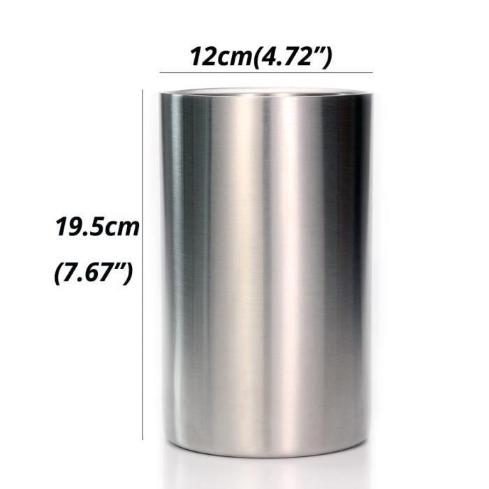 Rafraichisseur vin,Refroidisseur de vin à Double paroi Refroidisseur à glace en acier inoxydable avec Surface - Type Transparent