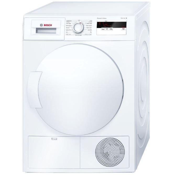 BOSCH WTH83001FF - Sèche linge frontal - 7 kg - Pompe à chaleur - Classe A+ - Blanc