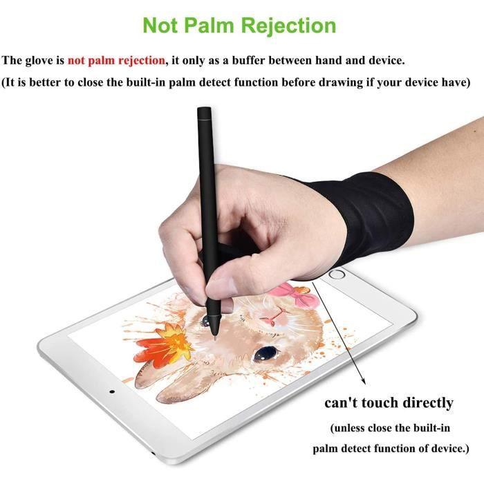 CABLING® Gant À Deux Doigts pour Graphiques Dessin Tablette Lumineuse Traçage Lumière Pad Gant Anti-fouling