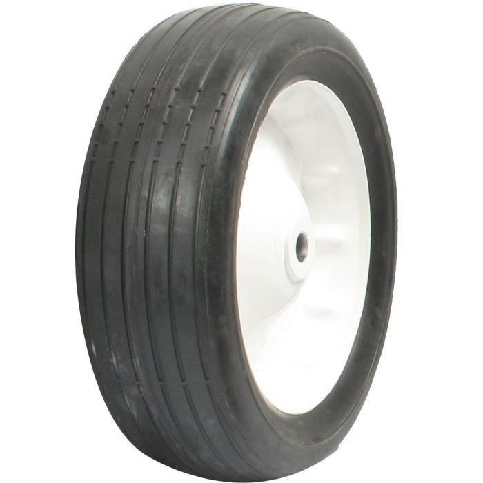 Roue en acier à moyeu déporté adaptable pour MTD - Profil ligné - Ø: ext: 260mm - alésage: 15,87mm, largeur: 82,55mm, Long moyeu: 70