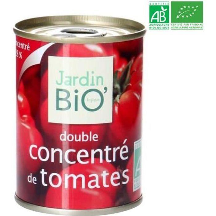 Double concentré de tomate bio 140 g Jardin Bio