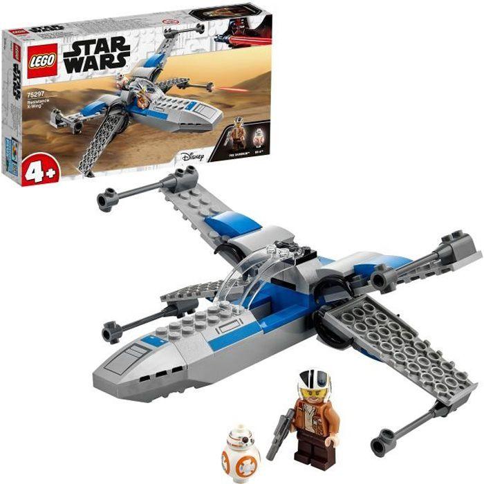 LEGO® 75297 Star Wars™ X-Wing™ de la Résistance Jouet Starfighter pour Les Enfants de 4 Ans et + avec La Minifigurine de Poe Dameron