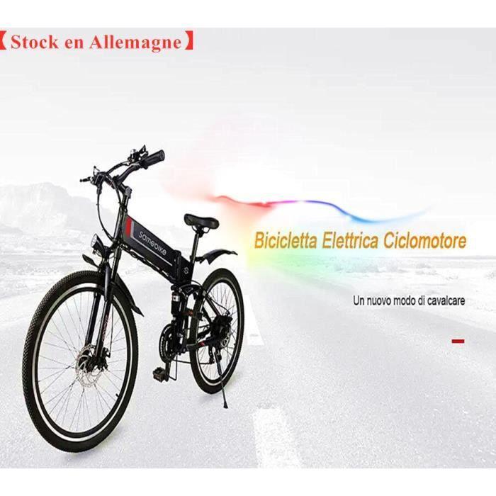 SAMEBIKE LO26 Vélo électrique Pliante 48V 350W 3 Modes 26 Pouces Batterie Au Lithium-Noir