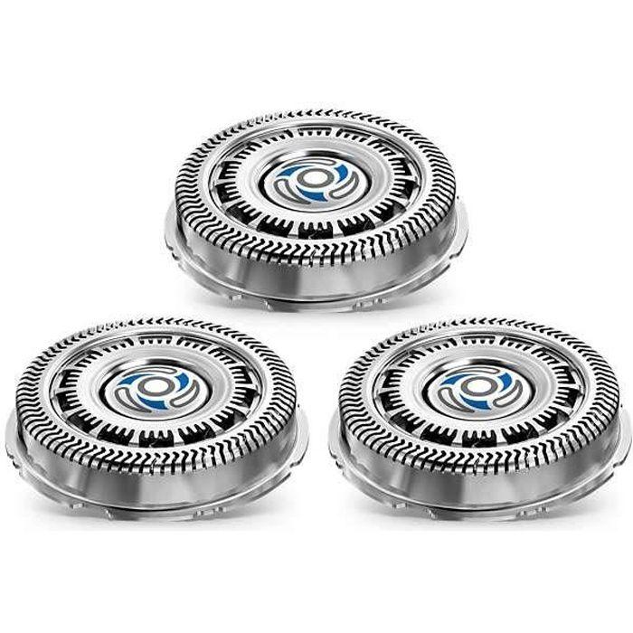 PHILIPS SH70/70 - Lot de 3 Têtes de rasoir Shaver Series 7000 et compatible SensoTouch 3D - lames GentlePrecision - SkinGlide