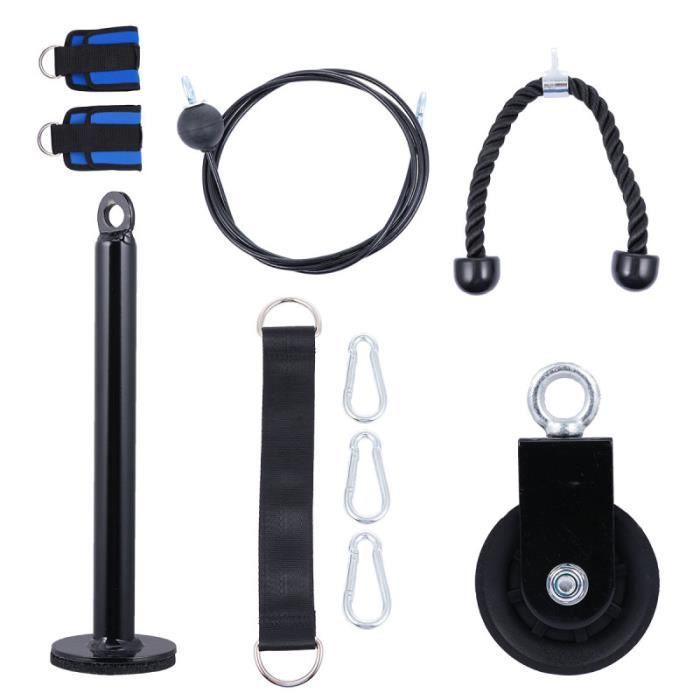 1 Set Fitness LAT machine et de câble de Système de poulie de levage Avec Améliorée broche de chargement BARRE - HALTERE - POIDS